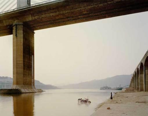 Chongqing VII, (Washing Bike). Series: Yangtze, The Long River. Chromogenic Colour Print. (2006 Chongqing, China) De Nadav Kander.