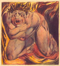 "Ilustración de William Blake de ""El Primer Libro de Urizen"". Fotografía: William Blake/Tate."